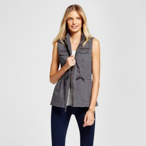 a new day Jackets & Blazers - A New Day Women's Gray Military Vest